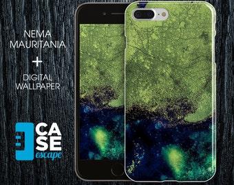 Geo Collection x Nema Mauritania Phone Case, iPhone 7, iPhone 7 Plus, Protective iPhone Case, Galaxy s8 Nature Africa Ocean Maps CASE ESCAPE