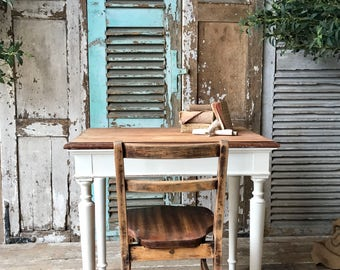 NOW SOLD - Vintage French desk and chair