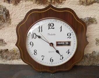 Vintage French Vedette Quartz Date Wall Clock
