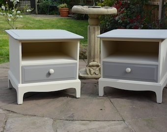 Vintage Stag Bedside Cabinets, Painted Stag Bedroom Furniture Christmas Gift Idea