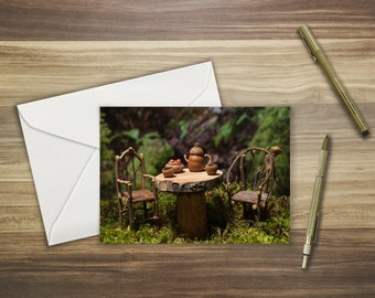 Woodland Faerie Tea Time greeting card