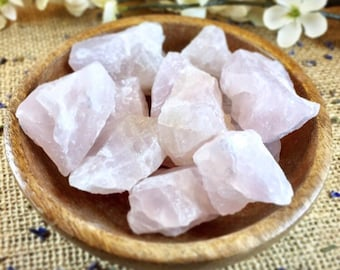 Raw Rose Quartz Crystal Healing Crystals and Stones Raw Crystals Rough Stones Reiki Crystals Chakra Stones Bohemian Decor