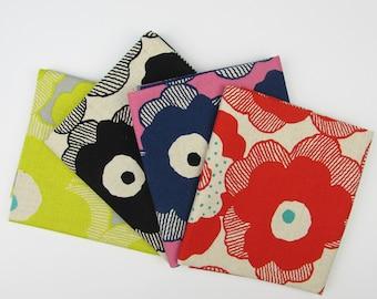 10% OFF - Large Flowers by Project Japanese Cotton Canvas Fabric Fat Quarter Bundle - 4 Fabrics