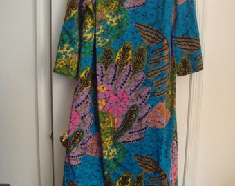 vintage TORI RICHARD HONOLULUlong wrap dress