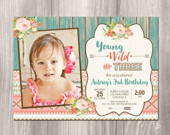 3rd birthday invite | etsy, Birthday invitations