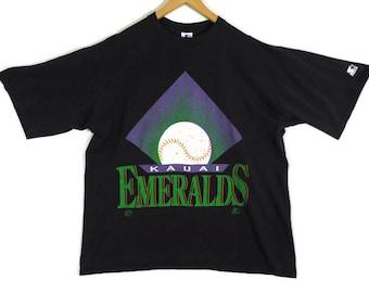 Vintage 90s Kauai Emeralds Starter T-Shirt - XXL - Baseball - Hawaii Sports - Vintage Tee - Vintage Clothing - 90s Clothing - Starter Tee -