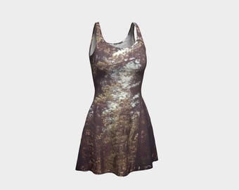 Trees at Sunset Flare Dress