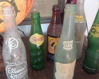 12 rare vintage soda bottles