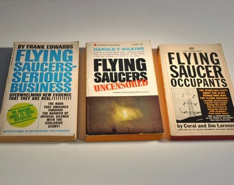 3 LOT 1960's Vintage UFO RELATED Book