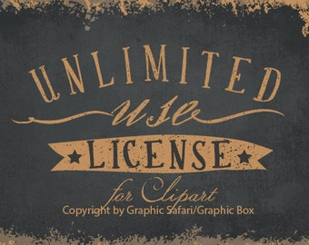 Unlimited Use License For Clipart