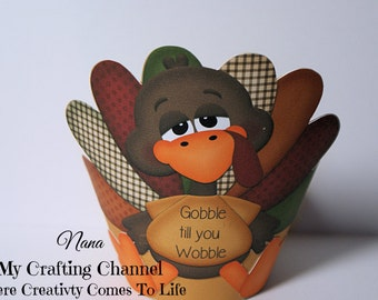 Thanksgiving Cupcake Wrapper-Turkey Cupcake Wrapper-Holiday Cupcake Wrapper-Holiday-Thanksgiving