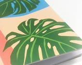 graphic leafy a6 notebook