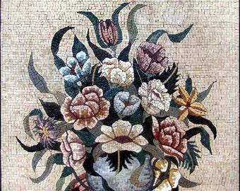 Deadly Nightshade Flowe Bouquet Mosaic