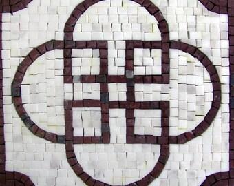 Geometric Mosaic - Sabratha White