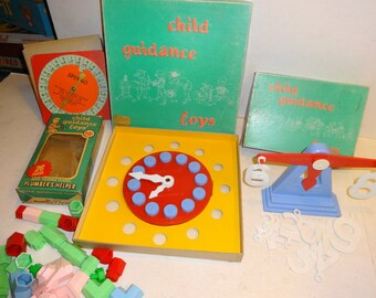 1950s Child Guidance Learning Toys Lot. All for one price!