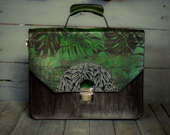 "Briefcase, leather briefcase, men's messenger, 15"" laptop briefcase, women's briefcase, attache,work bag, men's leather bag, leather bag"