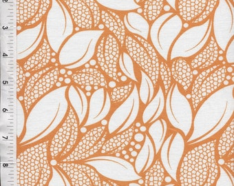 Michael Miller Patty Young Lush Tossed Leaves Orange Fabric