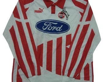 90's puma FC KOLN football shirts made in germany
