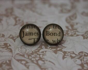 James ~ Bond Earrings ~ 007 ~ Ian Fleming ~
