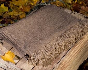 Brown linen blanket  - 100% Linen Blanket - Linen blanket - Bedspread - Throw blanket - Picnic blanket - Beach blanket - Natural gift