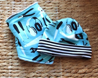 Baby Boy Gift Set, Baby Boy Gift, Baby Gift Set, Baby Boy Set, Gift Set Baby Boy, Newborn Baby Gift, Bib and Hat Set, Baby Boy, Baby Gift