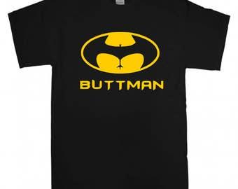 Buttman T-shirt New Funny Quote Gift Idea Men's t shirt S-XXL Batman Logo Parody Inspired Joke Casual tee shirt