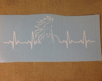Wild horse heartbeat decal