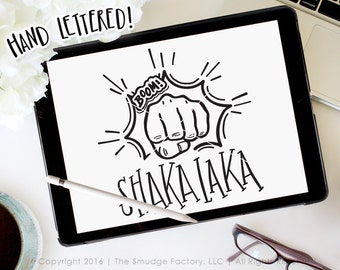 Boom Shakalaka SVG Cut File, Boom Cutting File, Silhouette SVG, Cricut Download, Fist Bump Graphic Overlay, Fist Pound Clipart Punch Graphic
