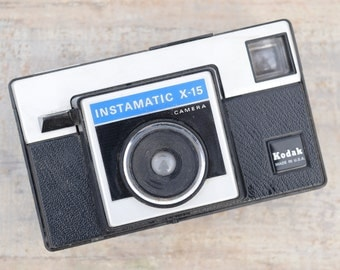 Kodak Instamatic, Instant Camera, Kodak Camera, Camera Decor, Photography Decor, Old Camera, Instamatic X1, Black and Silver, Camera Prop