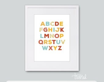 "Alphabet Wall Art: 18x24"" Print"