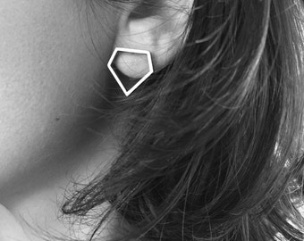 "Earrings  ""Diamante"" Collection - Sterling Silver"