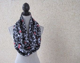Walking Dead, Walking Dead scarf, Cotton Scarf, Infinity Scarf, Eternity Scarf, Circle Scarf, Zombies, Zombies Scarf, Fabric scarf,
