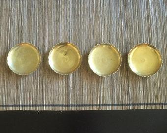 Vintage Brass Ring/Trinket Dish Set of 4