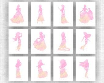 Princess Wall Art disney princess art | etsy
