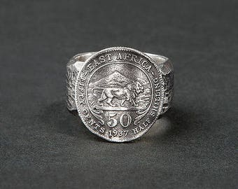 East Africa ring / ring coin cash / Lion
