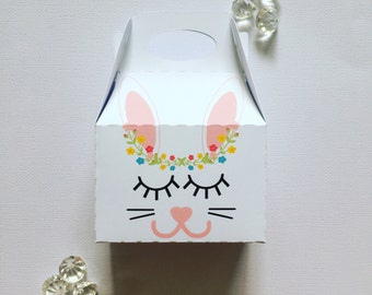 Sleepy bunny treat boxes