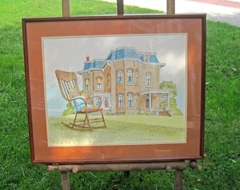 Victorian House Print by Jack Appleton Framed Signed by the artist #29 of 100