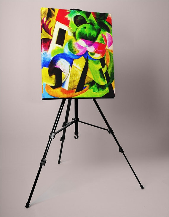 House with trees | Franz Marc Mirror Wrapped HP Professional Canvas