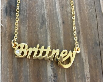 Brittney Necklace in Gold or Silver