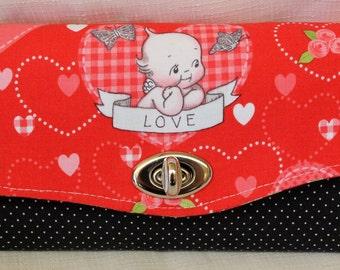 Red Kewpie Love  Clutch Wallet