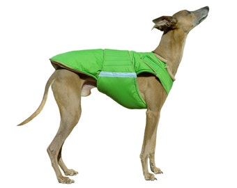 Greyhound Extra Warm Winter Dog Coat - Dog Jacket with double lining - Custom Dog Winter Coat - Waterproof / Fleece - MADE TO ORDER