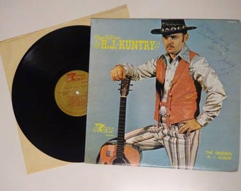 AUTOGRAPHED They Call Me H.J. Kuntry The Original H.J. Album Lp On Coins Records Nashville TN Recording Free Shipping