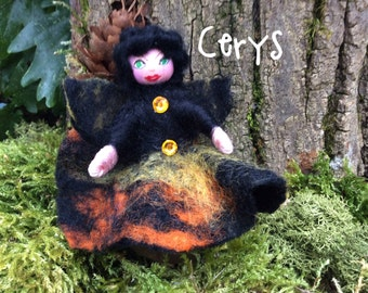 Wool felted fairyj,Welsh fairy,minature fairy