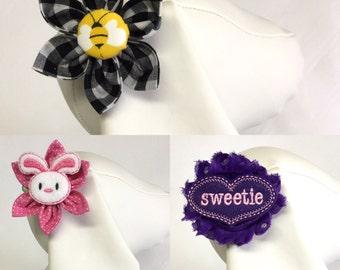 Dog hair clips, flower hair clips, alligator hair clips, dog accessory, pet accessory, puppy hair clip, pet hair clip, dog gift