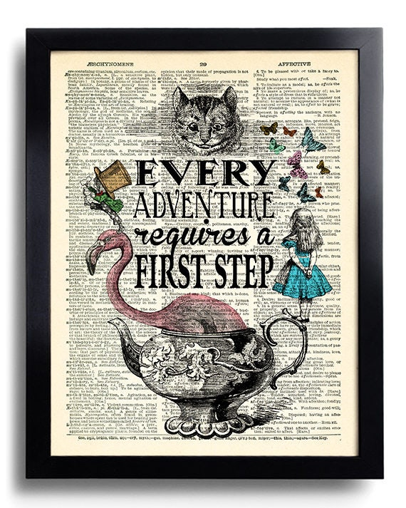 Alice In Wonderland Wall Art alice in wonderland wall art every adventure requires a first