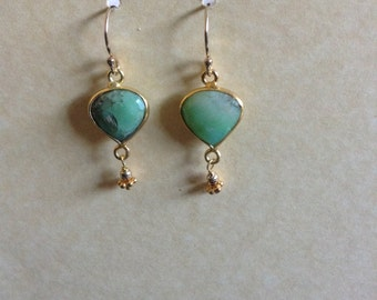 Natural Chrysoprase Earrings