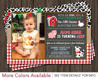 Barnyard Birthday Invitation - Farm Birthday Invitations