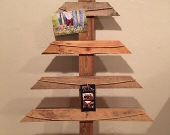 Reclaimed Wood Christmas Card Christmas Tree Holder