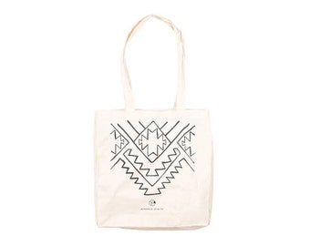 Tote bag Kindred Spirits pattern / Canvas tote bag / Cotton tote bag / Shopping bag printed / Grocery bag / Ethnic print / Multiple color
