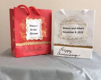 12 Happy Anniversary Favor Bags